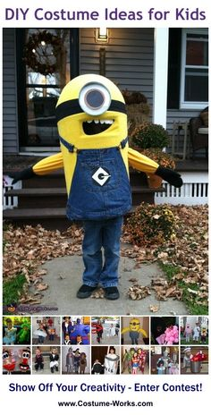 Despicable Me Minion - DIY costume ideas for kids via @costumeworks