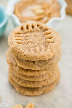 3 Ingredient Peanut Butter cookies are so easy to make!