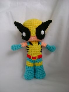 Wolverine Crochet doll Super cute! Made with a crochet Link pattern I have seen around online. Gonna try making him soon!