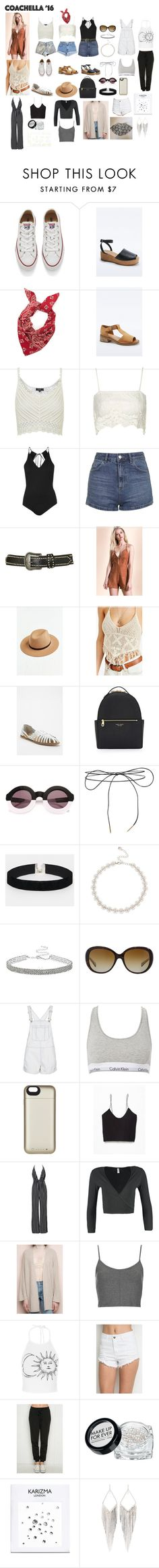 """""""Ariana Inspired Outfits/Clothing/Accessories for Coachella"""" by aglookbook ❤ liked on Polyvore featuring Converse, Topshop, Carmar, Levi's, Staring At Stars, Ecote, Henri Bendel, Wildfox, Lilou and ASOS"""