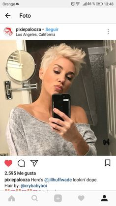 Without a doubt the only item that we would describe in a beauty version of Short Grey Hair, Short Hair Cuts, Short Hair Styles, Funky Short Hair, Cute Hairstyles For Short Hair, My Hairstyle, Love Hair, Great Hair, Corte Pixie