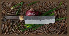 hand made forged Nakiri bōchō by angelero/ kézi kovácsolású tradícionális kínai nakiri Kitchen Knives, Cooking, Kitchen, Brewing, Cuisine, Cook