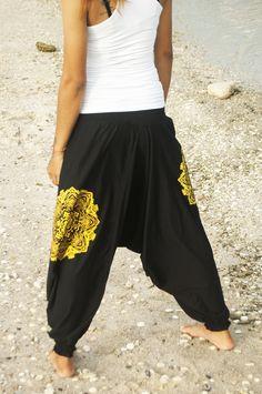 Pantalon Harem Femme Yoga Sarouel Hippie 100% Coton