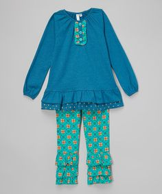 Ocean Ruffle Tunic & Ruffle Pants - Infant, Toddler & Girls is perfect! #zulilyfinds
