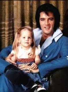 Elvis and his daughter Lisa Marie