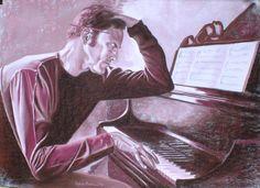 La composizione, pastel on paper, 2010