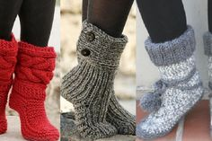 Here is a selection of 6 free and French patterns to knit comfortable slippers booties Source by gin Crochet Shoes, Diy Crochet, Knitting Projects, Knitting Patterns, French Pattern, Comfortable Boots, Slipper Boots, Beautiful Crochet, Slippers