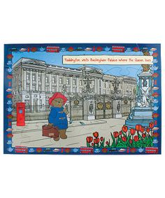 Paddington Bear Giant Floor Puzzle Floor Puzzle, Bear Illustration, Paddington Bear, Bright Lights, Buckingham Palace, 3 Years, Flooring, Illustrations, Baseball Cards