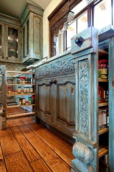 Kitchen Cabinet with Spice Rack Detail   9115-01 Seade  Photo by Tom Coplen