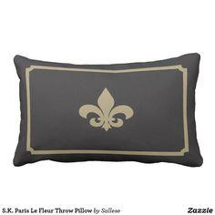S.K. Paris Le Fleur Throw Pillow