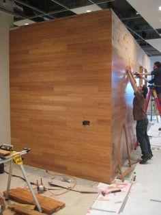 #Strandwoven Bamboo flooring on wall?