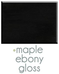 Asher Cole's Ebony finish on Maple. www.ashercole.com