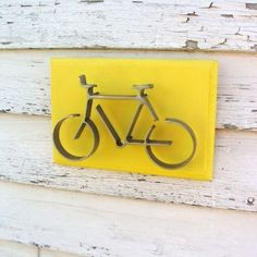 Iron Bicycle Metal Art Wall Decor Bike Art by baconsquarefarm