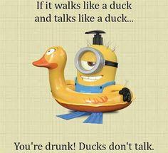 Ducks don't talk