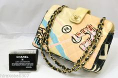 100% AUTHENTIC CHANEL COCO CC MARK SPANGLE CANVAS SHOULDER CROSS BODY BAG PINK $689.00 includes shipping!