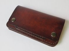 "Trucker Wallet, Biker Wallet, Full Grain Leather Wallet, Mens 6"" Leather Wallet"