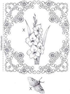 Perga papillons - Nerina D - Picasa Albums Web Colouring Pages, Adult Coloring Pages, Coloring Books, Hand Embroidery Designs, Embroidery Patterns, Parchment Design, Parchment Cards, Foil Art, Sewing Art