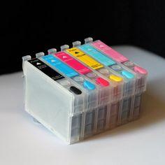 iE Brand - Set of Refillable ink cartridges (prefilled 17ml ink per color) 98 / 99 For Epson Artisan All in one 600 700 710 725 730 737 800 810 835 837 Shopsmart188 http://www.amazon.com/dp/B007K4DWKO/ref=cm_sw_r_pi_dp_lQstub0JQK96B