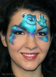 Monsters Inc face painting   Faceart.me