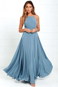 slate blue maxi dress, dusty blue, pantone niagara