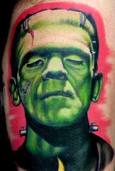 Frankenstein tattoo, Bride of frankenstein and Frankenstein on