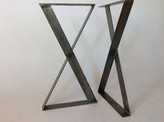 SET XFrame Table Leg 28Raw Flat Steel Table Legs by Balasagun, $120.00