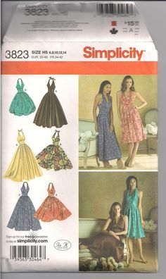 Simplicity 3823 Cocktail/Sun dress size H5 by Pattyskypants