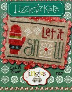 Lizzie Kate Jingles Snow Counted Cross Stitch Pattern