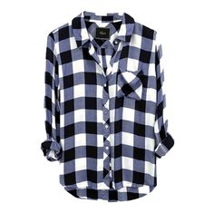 Hunter Navy and White Flannel