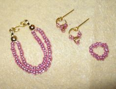 Fashion doll jewelry for Barbie, Silkstone Barbie and Fashion Royalty. $14.00, via Etsy.