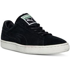 Puma Women's Suede Classic Winterized Lo Casual Sneakers from Finish... ($65) ❤ liked on Polyvore featuring shoes, sneakers, puma sneakers, special occasion shoes, suede leather shoes, suede shoes and cocktail shoes