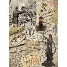 Рисовая бумага для декупажа Craft Premier Закон, 28,2 х 38,4 см