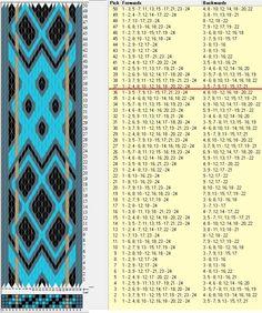 24 tarjetas, 5 colores, repite cada 36 movimientos // sed_659 diseñado en GTT༺❁