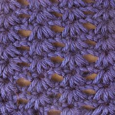 My Tunisian Crochet: Open Cluster Stitch