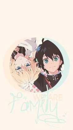 Mika and Yu - Owari no Seraph - Seraph of the End Cute Anime Wallpaper, Cute Cartoon Wallpapers, Iphone Wallpaper, Anime Manga, Anime Guys, Anime Art, Mika And Yu, Mika Hyakuya, Otaku