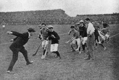 Sinn Fein leader and Commander-In-Chief of the Irish Free State Army Michael Collins throwing in the ball to start a hurling match at Croke Park, Dublin. Collins took part in the Easter Rising of. Get premium, high resolution news photos at Getty Images Michael Collins, Ireland 1916, Irish Free State, Best Of Ireland, The Wild Geese, Croke Park, Ancient History, A Team, New Books