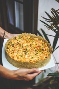 Quiche vegana of tofu, mushrooms and zucchini (Photo: Divulgation) Healthy Dishes, Veggie Dishes, Veggie Recipes, Vegetarian Recipes, Cooking Recipes, Healthy Recipes, Quiches, Tortillas Veganas, Vegan Quiche