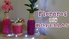 Floreros hechos a partir de botellas de vidrio recicladas, que se verán hermosos en cualquier espacio como decoración - Candy Bu