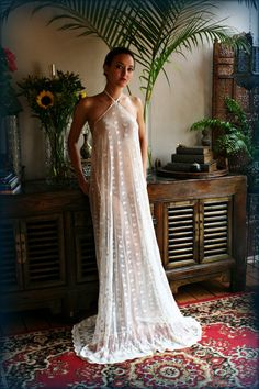 Bridal Nightgown Embroidered Lace Halter Backless Gown Wedding Sleepwear Lingerie Bridal Lingerie Honeymoon French Lace Ivory Lace – My Wedding Dream Honeymoon Lingerie, Wedding Lingerie, Wedding Gowns, Wedding Lace, Lace Weddings, Bridal Nightgown, Lace Nightgown, Lace Bridal, Bridal Gown