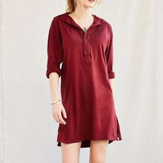 Urban Renewal Shirt Dress Like new condition, I maybe wore this once, it's just not my style anymore. It's a one size, but fits like a medium. Really soft! Offers Welcomed! Urban Outfitters Dresses Long Sleeve