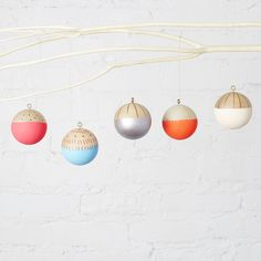 Love the ornaments - available from Brit & Co