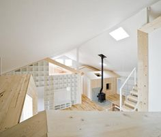 Pitched Roofs Interior Design by Architect Yoshichika Takagi