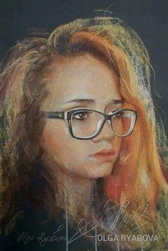 "Portrait ""Alexandra"" de Olga Riabova Pastel 50x70 cm Pastel Portraits, Mona Lisa, Artwork, Women, Work Of Art, Auguste Rodin Artwork, Women's"