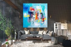 Large Abstract Canvas Art,Extra Large Abstract Canvas Art,extra large art,oil abstract canvas,large abstract art FY0052