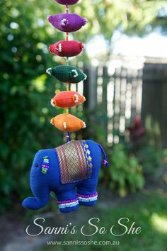 Elephant hanging home decor elephant beaded animal by SannisSoShe Beaded Animals, Home And Living, House Warming, Norman Reedus, Kids Toys, Unique Jewelry, Handmade Gifts, Christmas Ornaments, Holiday Decor