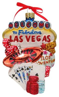 Kurt Adler C4056 Las Vegas Glass Cityscape Ornament, 5-1/2-Inch => Don't get left behind, see this great product offer  : Christmas Ornaments