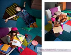 Carpet tile colors and Stripe!  by photographer Karin Nussbaumer