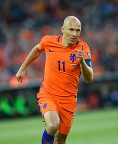 Dutch s Arjen Robben celebrates after scoring during the FIFA World Cup  2018 qualification football match between 5bb830bb0