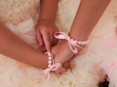Little Girl Pearl Bracelet Flower Girl Bracelet by mmtncrfts, $8.95