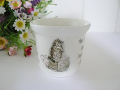 Beatrix Potter vintage 1980's Mrs.Tiggy Winkle egg cup by Wedgwood, Child gift, China egg cup, gift for a child, Baby gift
